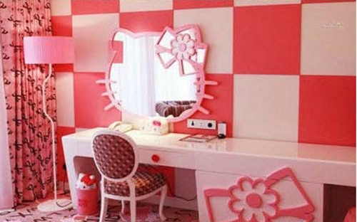 凯蒂猫欧式粉色公主房图片